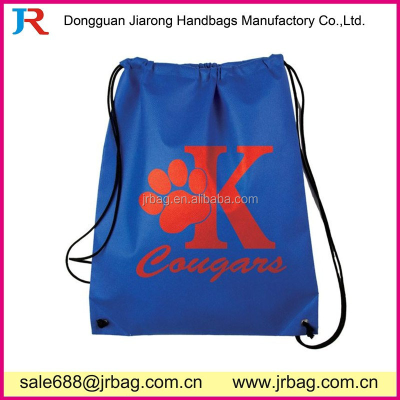 Premium personalized nylon drawstring backpack for school