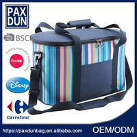 OEM durable zippered 6 can insulated nylon lunch cooler bag zero degrees inner cool