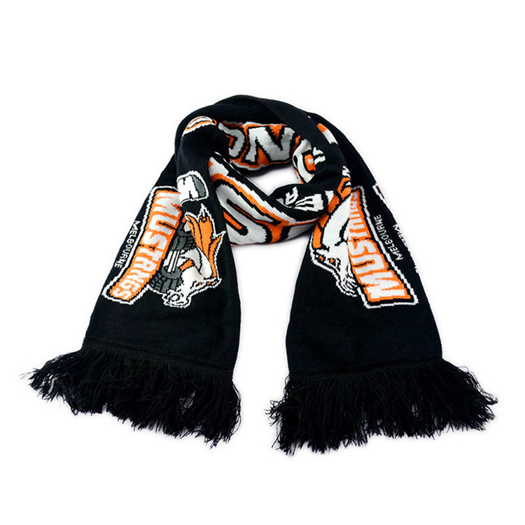 High-end gifts soccer fans customized knitted scarf
