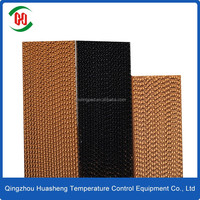 Cellulose wet curtain/evaporative cooling pad for poultry farm