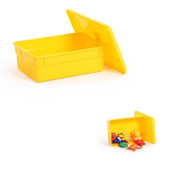 100% new pp customized color 18L plastic sotrage box with lid for toys storage