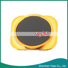 Replacement Plastic Home Button Sticker for iPhone 5 Black & Gold