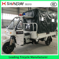 2016 made in China hot sale semi-closed cabin AMBULANCE TRICYCLE for SALE