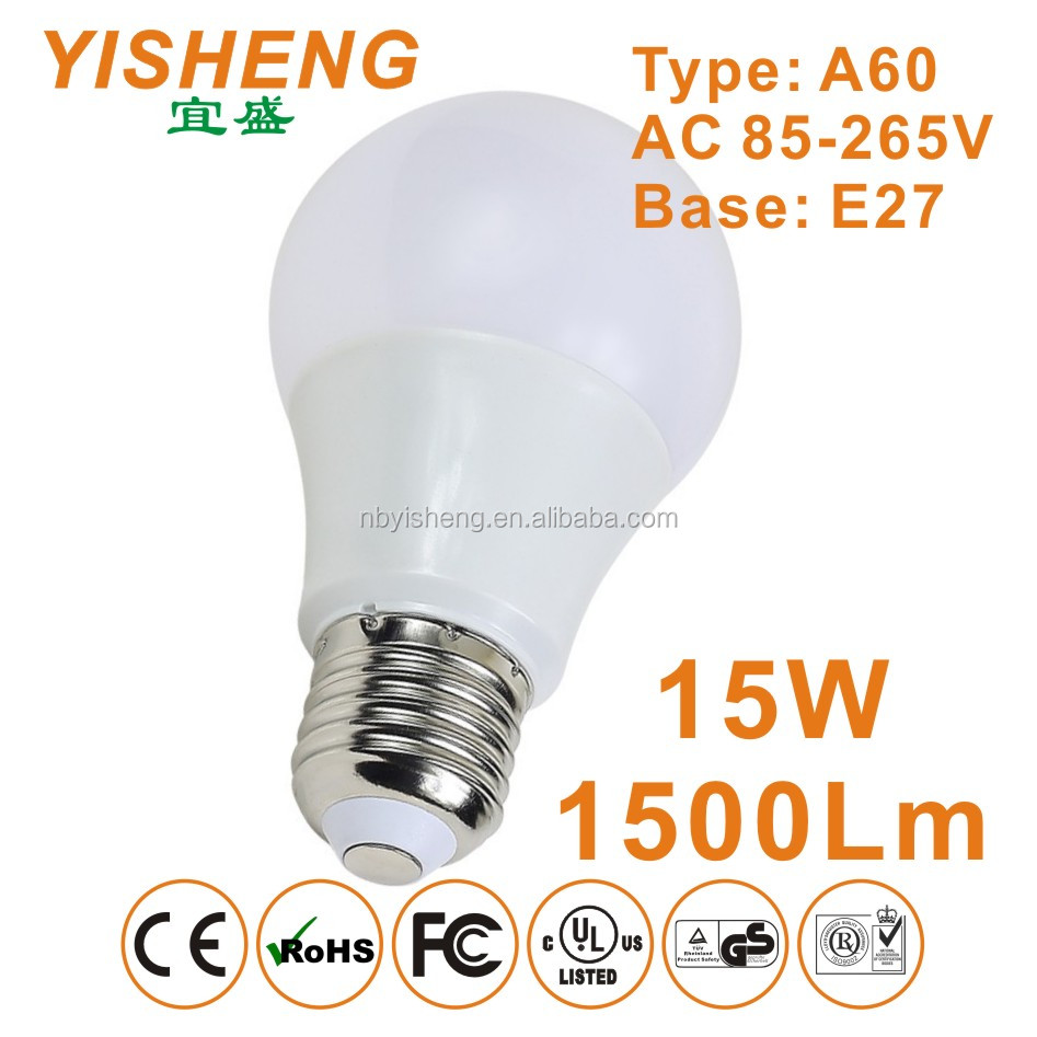 High Power Factor LED Light Bulb E27 Base 15W 1600Lm, CE/RoHS/EMC Approved