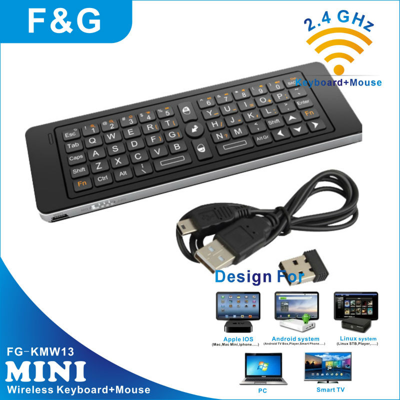 2.4g skype wireless qwerty remote control