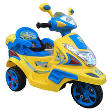 Shinning 4 Wheels Kids Ride on Plastic Motorcycle Car, Child Like Electric Motorbike,
