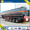 3 axles 40tons liquid crude oil asphalt bitumen tanker semi trailer for sale