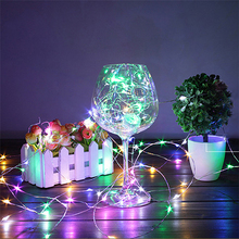 HT 2M 5M Copper Wire LED String lights Waterproof Holiday Strip lighting For Fairy Christmas Tree Party Decoration Wedding