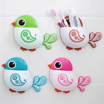 Cute Blue Bird Pattern Toothbrush Holder Quality Lovely Oral Hygiene Toothbrush Accessories for Kids Adult