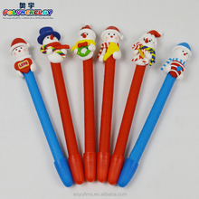 New design polymer clay promotional Xmas gife pen