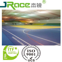 Indoor liquid rubber sport flooring for multi purpose court