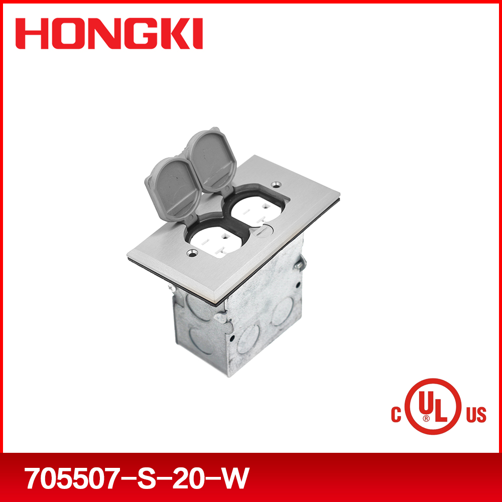 Recessed floor box for electrical outlet socket