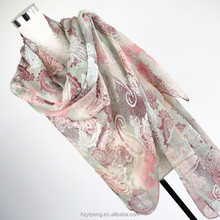 2017 promotional new products 100x200 paisley print muslim scarf hijab manufacturers