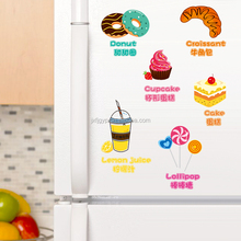 Hot sales creative pvc small size removable ice cream stickers on the fridge magnets
