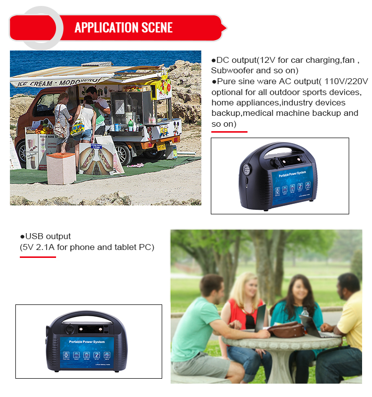 1500W lithium portable power generator for electric appliance