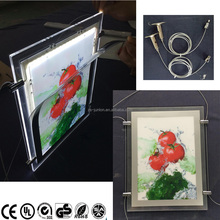 LED Illuminated Poster Displays Window led light pocket with cable display system