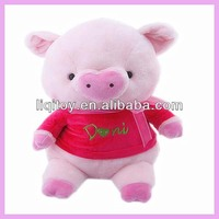 Cute stuffed plush pink pig toy