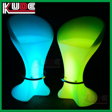2017 Hot sale PE plastic luminous led chair modern design glowing LED bar chair