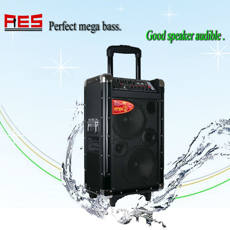 Bluetooth amplifier wireless microphone speaker rechargeable mobile audio wheels speaker box
