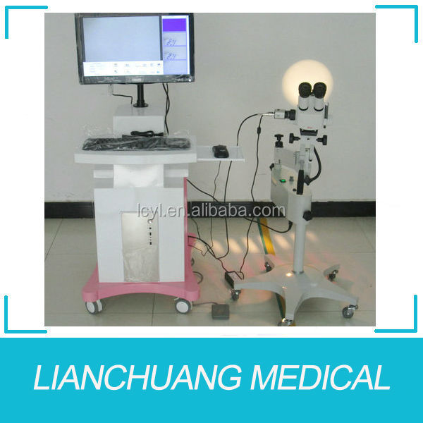 Optical colposcope with Leica microscope for gynecology