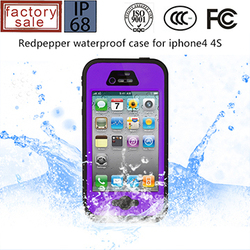 Factory Price Shockproof Dirtproof IP67 Waterproof Cheap Mobile Phone Case for iPhone4 4S