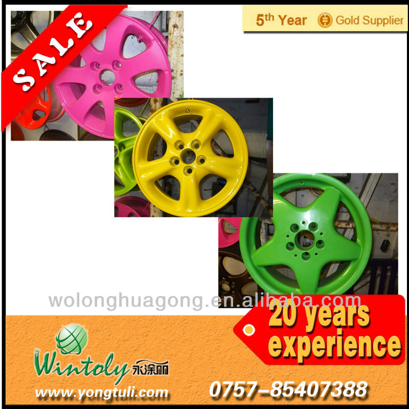 Iron car wheels metallic powder coating RAL colorful paints