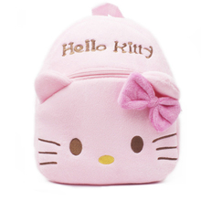 2017 lovely pink cat kids backpack plush animal backpack