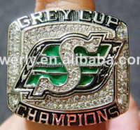Self- owned factory make cfl grey cup championship rings replica championship ring