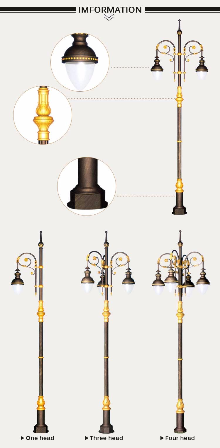 Used Light Poles : Cast iron poles used highway led street light lamppost