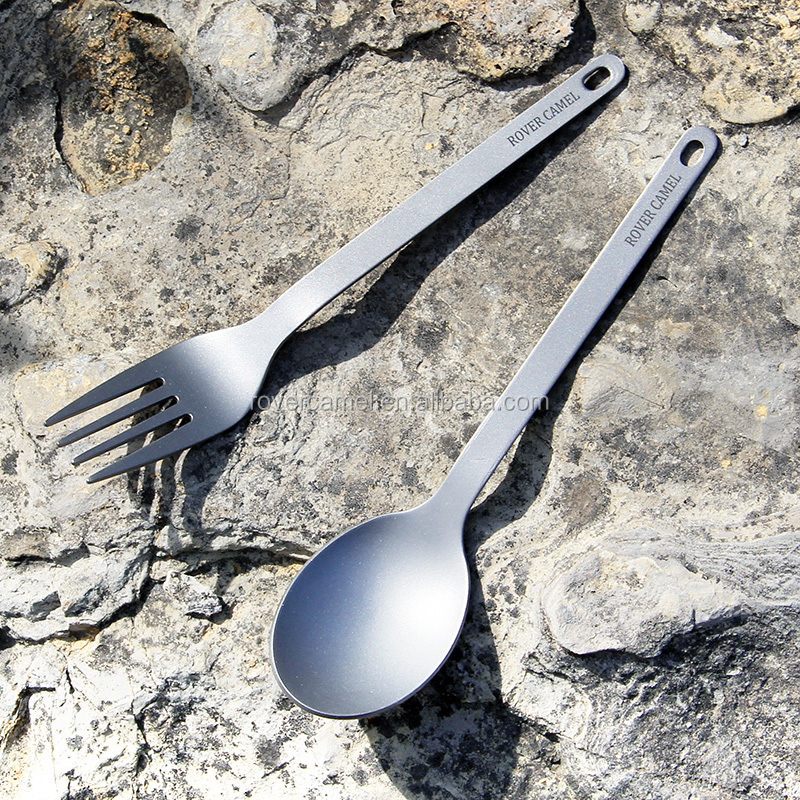 Rover camel titanium fork- spoon cutlery set Outdoor camping titanium spork ultralight Hiking cutlery