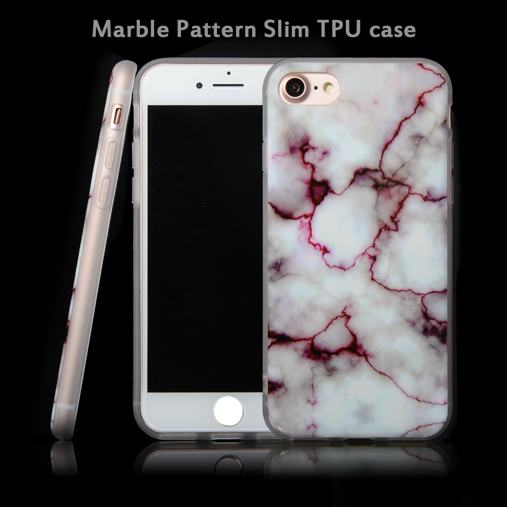 Fashion imd tpu case custom marble stone mobile phone case for iphone 7