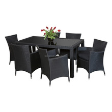 1 table6 seater collapsible outdoor furniture PE rattan dining room furniture