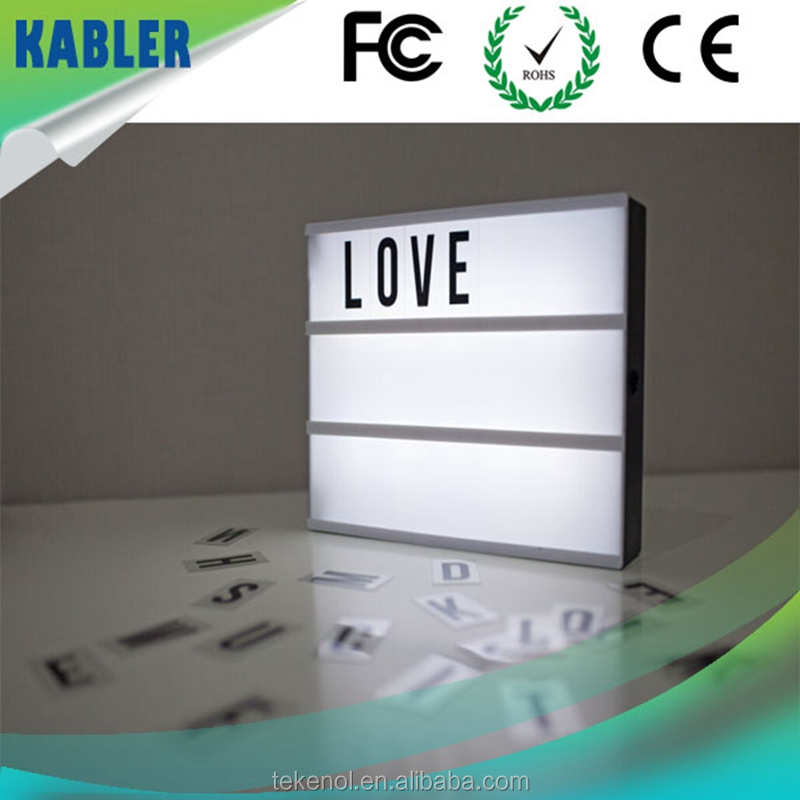 LOVE Free Combination Numbers and Letters Advertising LED Light Box