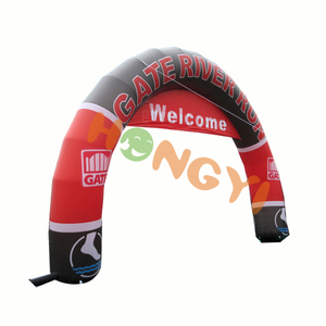 Customized various designs inflatable red and black arches advertising sporting events marathon arches