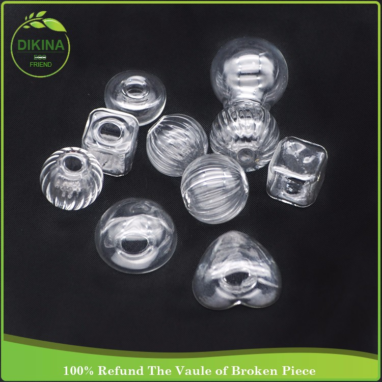 Transparent Glass Half Ball Covers 15/20/25/30 Hollow Glass, necklace pendant,charming handmade hand blown clear glass half ball