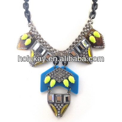 2014 new products fashion miao style seascape necklace