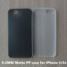 Factory Supplying Slim 0.5MM Soft Half Transparent Matte PP TPU Phone Case for iPhone 5/5s
