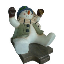 Holiday decorative Fiberglass christmas large slide snowman for shopping mall