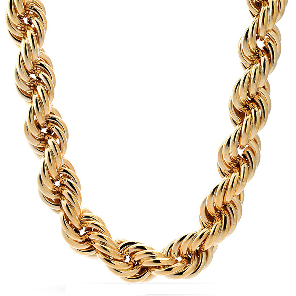 Jingli Jewelry high quality 18k gold chain IP plated rope chain necklace dubai new gold chain design for men(SC-009)