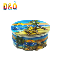 Beach turtle design resin animal shaped jewelry boxes