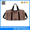 Big size long strap canvas tote travel bag for men