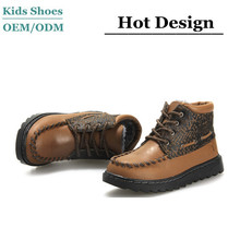 Teenager boys hunter boots custom high quality horse hair ankle boots