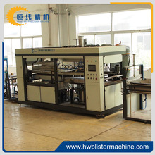 automatic plastic thermoforming machine for clamshell blister packaging