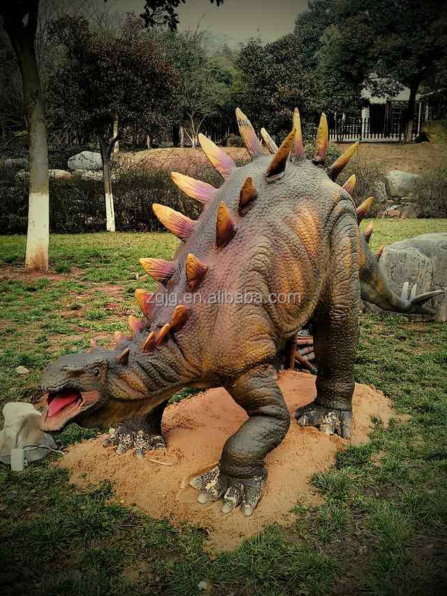 Outdoor playground life size dinosaur statues