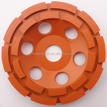 125mm for concrete double rim diamond grinding cup wheel