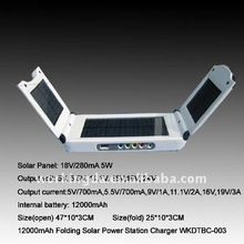 2.5W Portable Universal Multi Voltage solar battery charger for Laptop and Mobile Phone