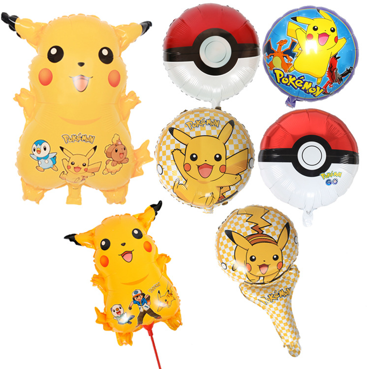 Hotsale custom kids pokemon pikachu aluminium foil balloon