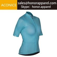 Custom Wholesale Women Sports Apparel Breathable Short Sleeve Cycling Jersey
