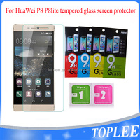 wholesale price!! for huawei P8 p8 lite Tempered Glass Film Screen protector