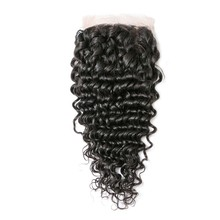 50% Off Discounts Unprocessed Virgin Clearance Stock Top Women Cuticle Aligned Brazilian Hair Deep Wave Lace Closure